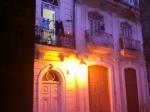 Dramatic lighting on old Havana Building