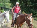 Gabriella Klein on horseback