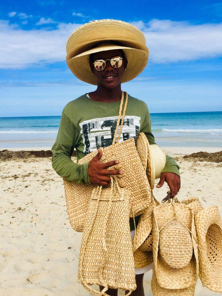 Basket weaving vendor